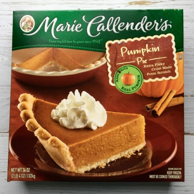Review: Marie Callender's Pumpkin Pie