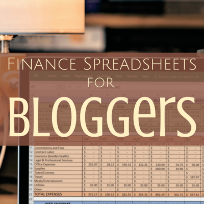 Tax Spreadsheets for Bloggers