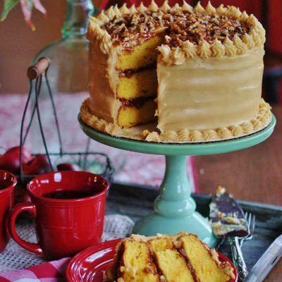 Southern Salted Caramel Cake