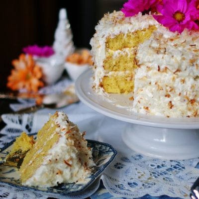 Old Fashioned Coconut Ice Box Cake