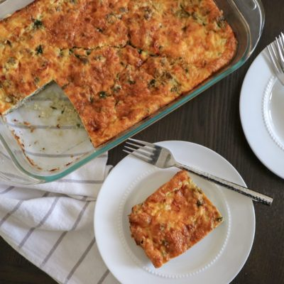Low Carb Egg White Breakfast Casserole
