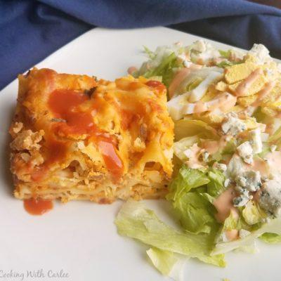Cheesy Buffalo Chicken Lasagna