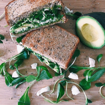 Green Pesto Sandwich with Goat Cheese & Avocado