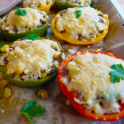 Rice and Beef Stuffed Pepper Bites