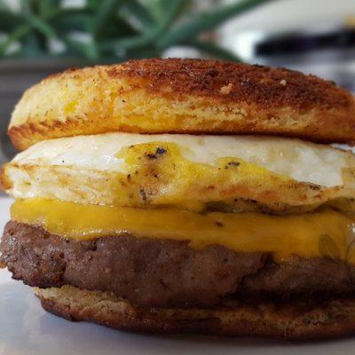 Easy Breakfast Sandwich on the Best Keto Quick Bread