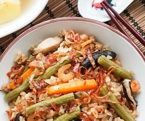 One-Pot Long Bean Rice