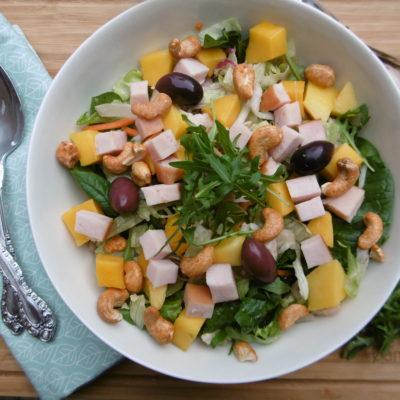 Spring Salad with Mango, Chicken & Cashews