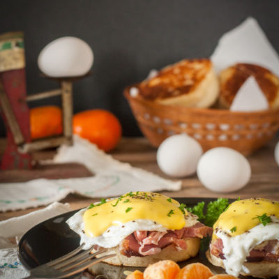 Eggs Benedict with Homemade English Muffins