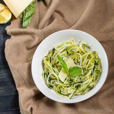 Lemon Parmesan Zoodles