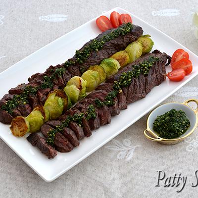 Hanger Steak Hot Parsley Pesto
