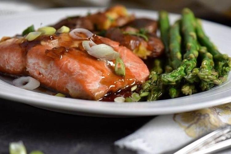 Soy Maple Glazed Salmon