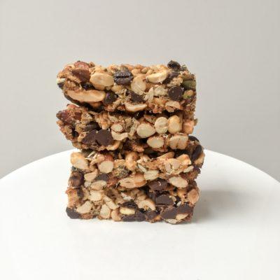 Dark Chocolate Coffee Nut Bars