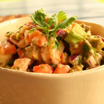 Zesty Lime, Shrimp, and Avocado Salsa