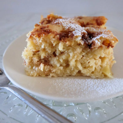 Yogurt Apple Cake with Buttered Cinnamon Brown Sugar
