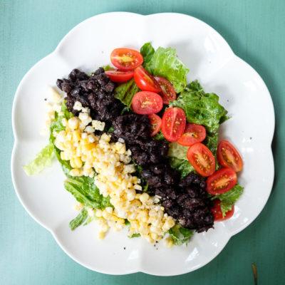 Black Bean Salad with Avocado Dressing
