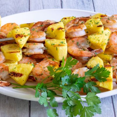 Buttery Grilled Shrimp and Pineapple