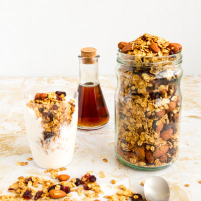 Homemade Cranberry Almond Granola Recipe