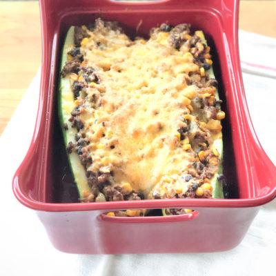 Healthy Zucchini Taco Boats