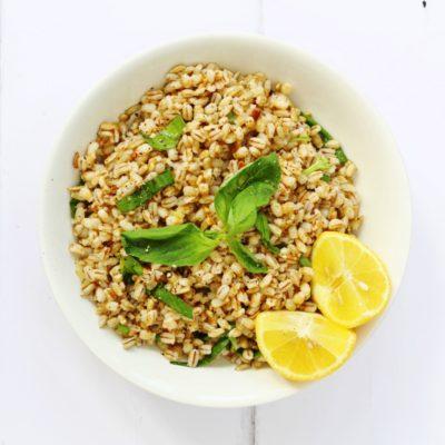 Lemon, Basil and Barley Salad