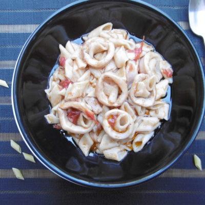 Calamari with Mini Penne Noodles