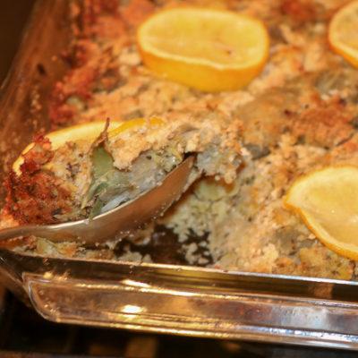 Stuffed Artichoke Casserole