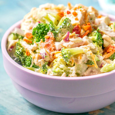 Bacon Ranch Chicken & Broccoli Salad (low carb)
