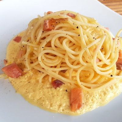Spaghetti with Smoked Trout Carbonara