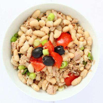 Tuna Cannellini Bean Salad