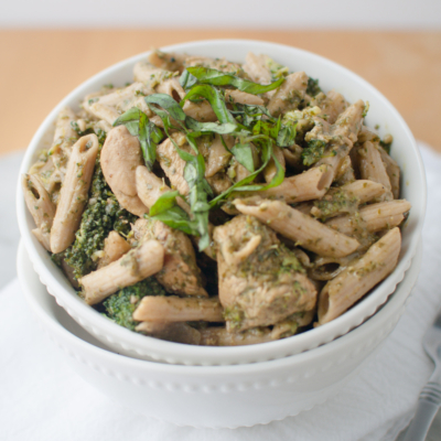 Chicken Broccoli Pesto Pasta Toss