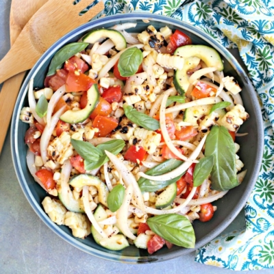 Roasted Corn Tomato Cucumber Salad