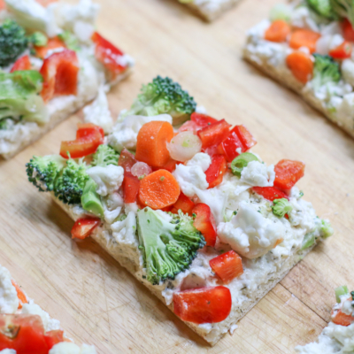 Crescent Roll Cream Cheese Vegetable Pizza