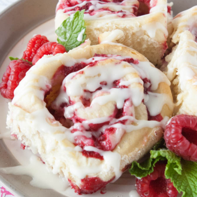 Raspberry Cheesecake Sweet Rolls