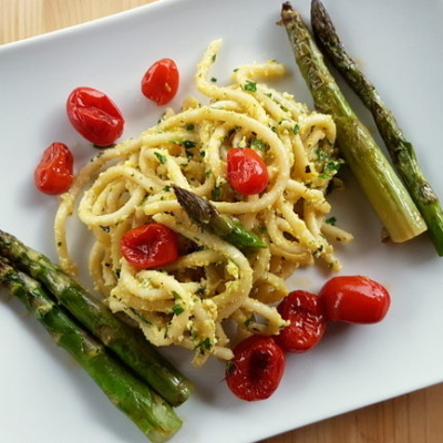 Tuscan Pici Pasta All'etrusca with Asparagus