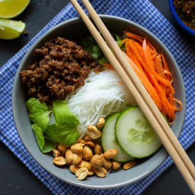 Vegetarian Vietnamese Noodle Bowls