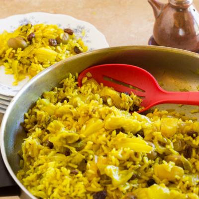 Curry Cabbage and Rice from India