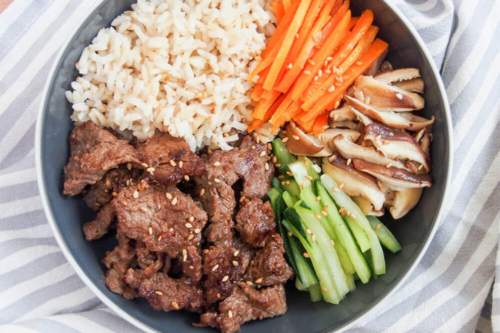 Beef Bulgogi in a bowl