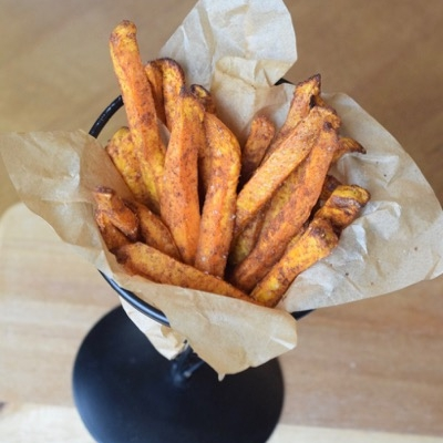 Air-Fryer Indian-Spiced Sweet Potato Fries