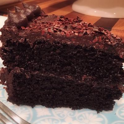 The Best Dark Chocolate Cake