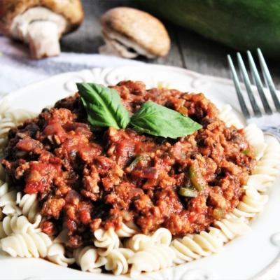 Vegan Bolognese with Hidden Veggies