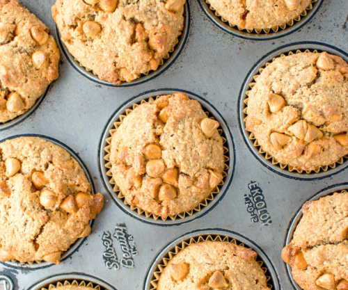 Butter Rum Muffins in a muffin pan