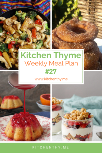 Kitchen Thyme Weekly Meal Plan #27