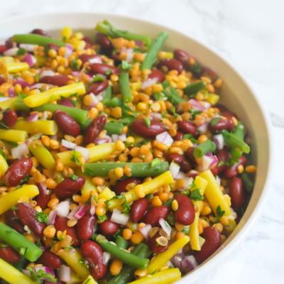 Bean Salad with Lentils
