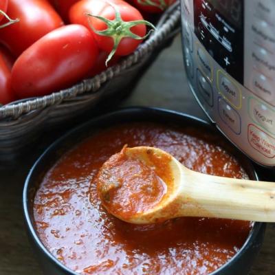 Instant Pot Homemade Tomato Sauce – No Peeling, Coring or Seeding!