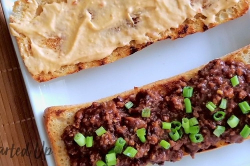 Korean Beef Sloppy Joes on a platter