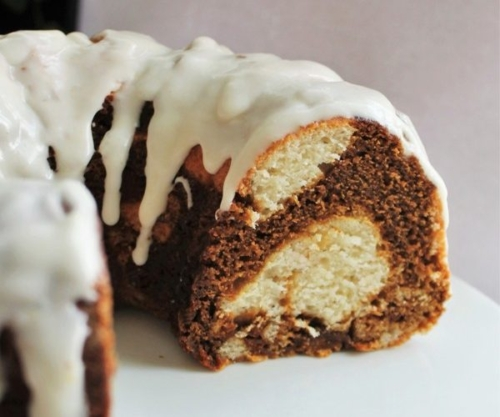 Lemon-Molasses Marble Cake