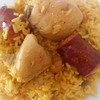 Chorizo & Chicken Yellow Rice