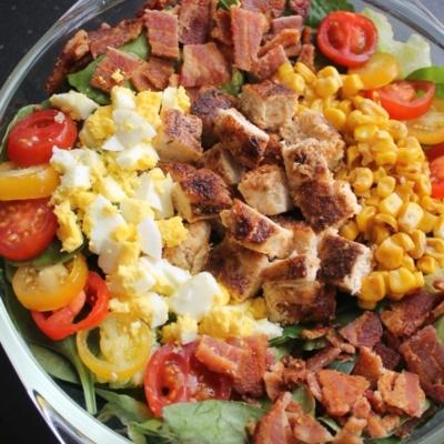 Cobb Salad with Honey-Mustard Ranch Dressing