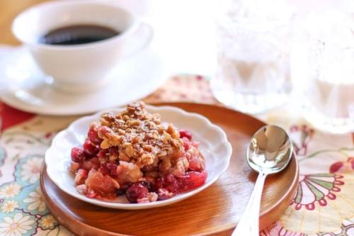 Cranberry Apple Casserole on a plate