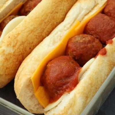 Meatball Submarine Sandwiches