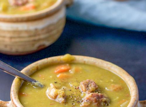 2 bowls of Instant Pot Split Pea Soup